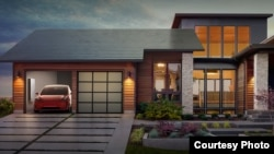 American company Tesla has begun taking orders for its new solar roof, which was designed with tiles to look similar to a traditional roof. (Tesla)