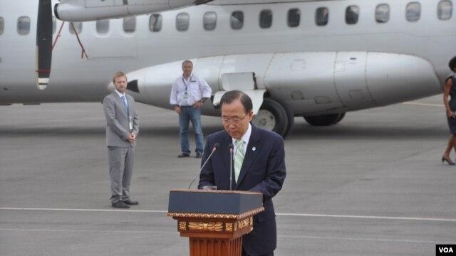 Generalni sekretar UN Ban Ki-Mun pozvao je na rešavanje problema na severu Kosova mirnim dijalogom.