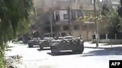 Xe tăng của lực lượng Syria