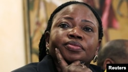 FILE - Chief Prosecutor Fatou Bensouda of the International Criminal Court (ICC).