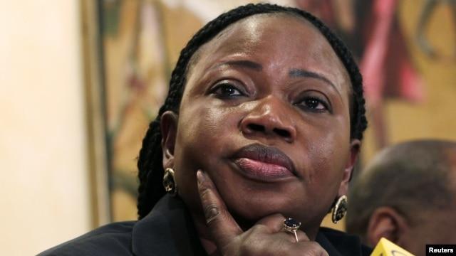 FILE - Chief Prosecutor Fatou Bensouda of the International Criminal Court (ICC).