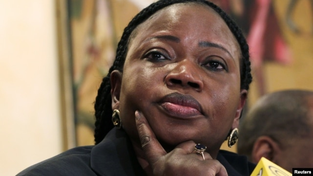 Chief Prosecutor Fatou Bensouda of the International Criminal Court (ICC) listens to a question from a journalist during a media briefing in Kenya's capital Nairobi, October 25, 2012.
