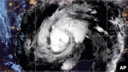Foto satelit badai Zeta pada hari Rabu (28/10) pukul 10:52 GMT.