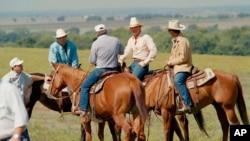 미국 텍사스 주 프로스퍼에서 인기 TV드라마 '댈러스'를 촬영하고 있다.