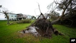 Последствия урагана «Лаура» в штате Техас. 27 августа 2020 г.