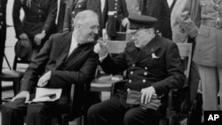 Франклин Рузвельт и Уинстон Черчиль