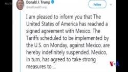 特朗普宣佈與墨西哥達成協議 可避免加徵關稅 (粵語)