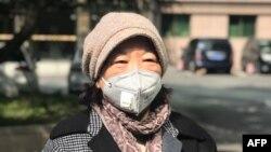 武漢作家方方今年2月受訪時照片(法新社圖片)