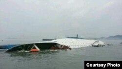 Kapal feri Sewol, yang tenggelam di Korea Selatan bulan April 2014 (Foto: dok).