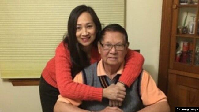 Tướng Lê Minh Đảo và ái nữ, Bích Phượng (Hình: FB Võ Thành Nhân)