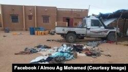Véhicule fouillé par la force Barkhane à Ménaka, dans le nord-est du Mali, le 28 septembre 2018. (Facebook/ Almou Ag Mohamed)