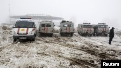 Favqulodda xizmat mashinalari, Almati, 29-yanvar, 2013