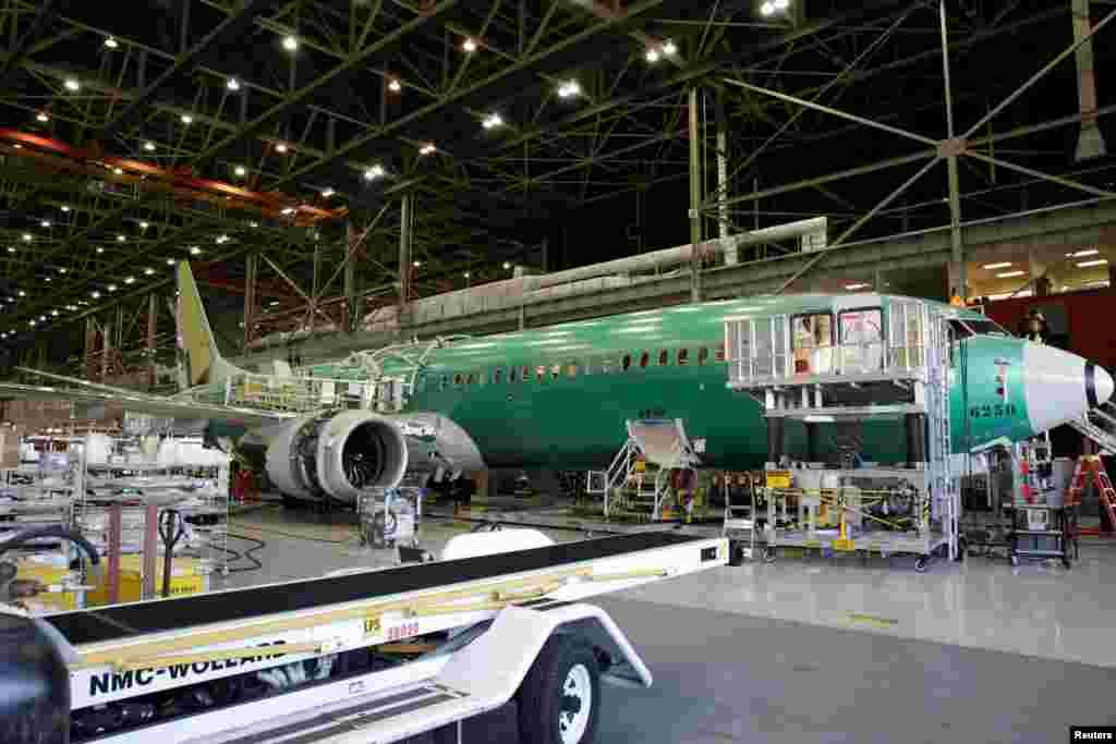 ساخت و ساز هواپیما جدید بوئینگ:هواپیما 737 MAX-9، ایالت واشنگتن در آمریکا.