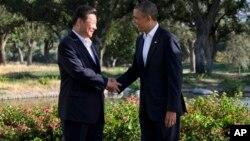 美國總統奧巴馬與中國國家主席習近平。(資料圖片)