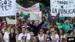 Madriddə minlərlə məktəb müəllimi tətil elan edib