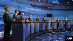 Devet republikanskih predsedničkih kandidata učestvovalo je u debati u Orlandu, Floridi, 23. septembra 2011.