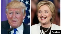 Donald Trump à Palm Beach, Florida et Hillary Clinton à Miami, Florida en mars dernier.