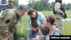 Візит президента Порошенка до Донбасу, 20 червня 2014 року