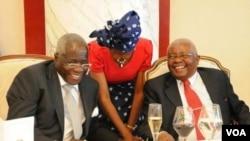 Moçambique Presidente Armando Guebuza e Lider da Renamo Afonso Dhlakama