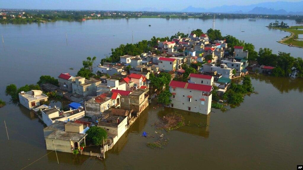 Một làng ngoại ô Hà Nội, 22 tháng Bảy, 2018. (Vietnam News Agency via AP)
