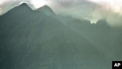 Montagnes dans le parc des Virunga. (AP Photo/Brennan Linsley)