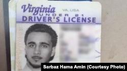 수니파 무장단체 ISIL 반군으로 추정되는 미국인이 이라크 북부 지역에서 쿠르드족 자치정부군에 투항했다. 모하메드 자말 키웨이스로 알려진 용의자의 운전면허증.