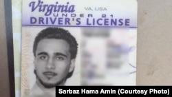 Bằng lái xe tại tiểu bang Virginia của nghi can Mohamed Jamal Khweis.