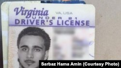 A driver's license of an American identified as Mohamed Jamal Khweis, accused of being a member of the Islamic State group, who has surrendered to Kurdish Peshmerga forces in northern Iraq.