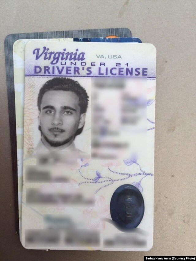 A driver's license shows the man identified as Mohamed Jamal Khweis.