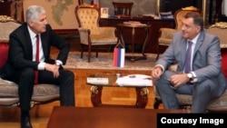 Sastanak Dragana Čovića i Milorada Dodika (Fotografija preuzeta sa web stranice predsjednika RS-a)