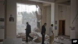 Wani ginin gwamnati da dakarun NATO suka kaiwa hari a Libya