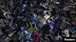中國電子垃圾回收。(資料圖片)