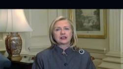 克林顿国务卿美国之音70周年录像贺词