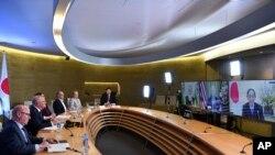 澳大利亚总理莫里森参加四方安全对话机制会谈(2021年3月13日)