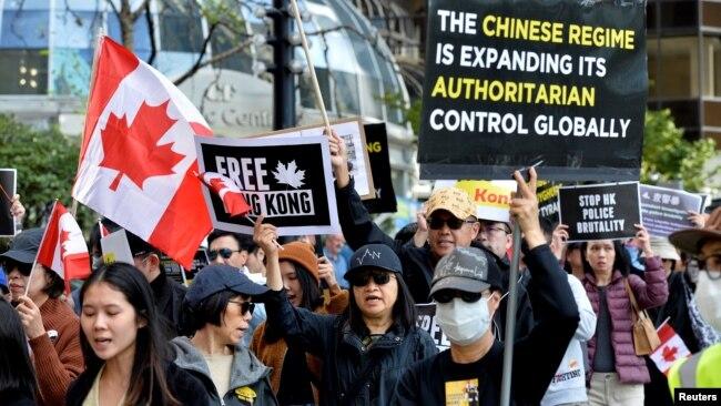 2019年9月加拿大温哥华市支持者声援香港反送中运动(路透社)