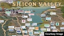 美國著名加州矽谷滿佈高科技公司。