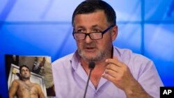 Абдул-Баки Тодашев, отец Ибрагима Тодашева, на пресс-конференции в Москве. 30мая 2013г.