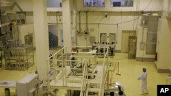 A picture shows the fuel manufacturing plant in the central province of Isfahan, Iran (2009 File)
