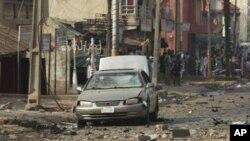 나이지리아 카두나 시 폭탄테러 현장.