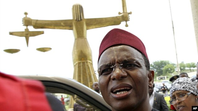 Former Nigerian Minister of the Federal Capital Territory Nasir El-Rufai, Abuja May 12, 2010 (file photo)