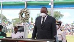 Perezida wa Kenya Uhuru Kenyatta yunamira ubwa nyuma Magufuli
