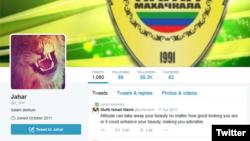 A screenshot of part of accused Boston Marathon Bomber Dzhokhar Tsarnaev's Twitter account.