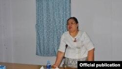 တနသၤာရီတုိင္းေဒသႀကီး ဝန္ႀကီးခ်ဳပ္ ေဒါက္တာေဒၚလဲ႔လဲ႔ေမာ္ (tanintharyi chief minister Dr Daw Lae Lae Maw IPRD MYEIK)