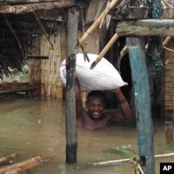 A flooded home in Antalaha