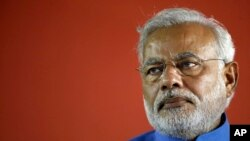 Ông Narendra Modi, lãnh đạo Đảng Bharatiya Janata Party BJP thân Ấn Độ Giáo và thủ tướng sắp tới của Ấn Độ.