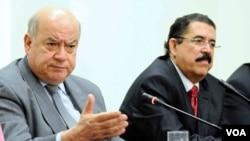 En su defensa, Insulza citó artículos de la Carta Democrática, en particular el derecho del Poder Ejecutivo de un gobierno miembro a solicitar el apoyo de la OEA.