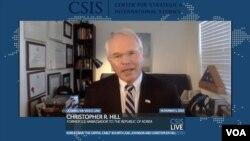 크리스토퍼 힐 전 국무부 동아시아태평양 차관보가 6일, 워싱턴 전략국제연구소(CSIS)가 미 대선 후 한반도 정세를 주제로 연 화상회의에 참석했다.