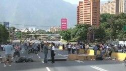 """Oposición venezolana realizó """"trancazo"""""""