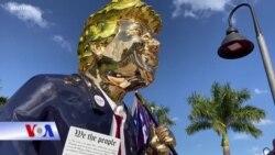 Tượng vàng Donald Trump được trình làng tại Hội nghị CPAC