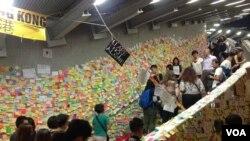 香港占领示威者面对清场危险决毅坚守